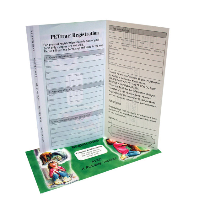 Avid Microchip Registration Forms