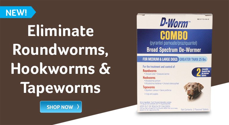 Eliminate roundworms, hookworms and tapeworms